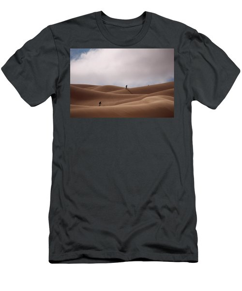 Sand Skiing Men's T-Shirt (Athletic Fit)