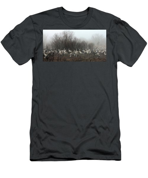 Sandhill Cranes In The Fog Men's T-Shirt (Athletic Fit)