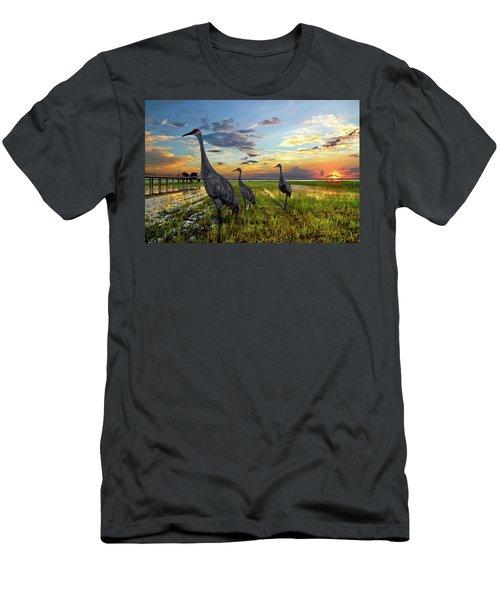 Sandhill Sunset Men's T-Shirt (Athletic Fit)