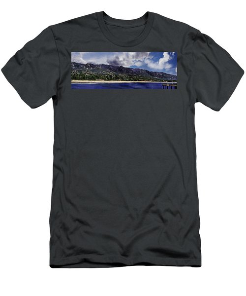 Santa Barbara Panorama Men's T-Shirt (Slim Fit) by Danuta Bennett