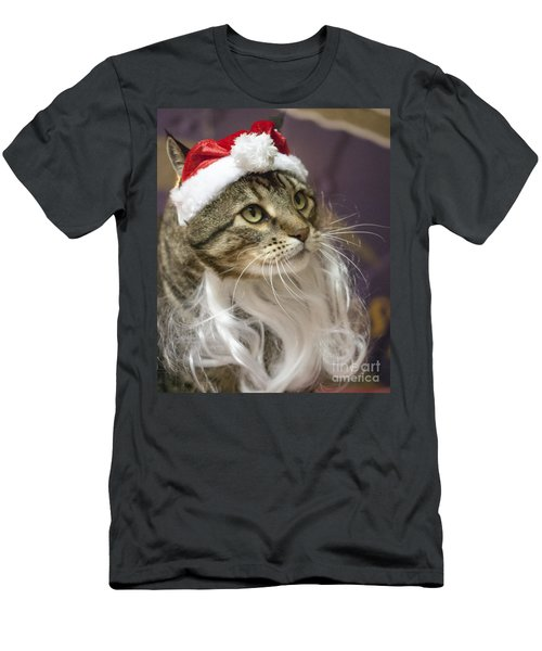 Santa Cat Men's T-Shirt (Athletic Fit)