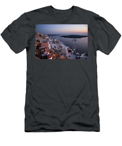 Santorini At Dusk Men's T-Shirt (Athletic Fit)