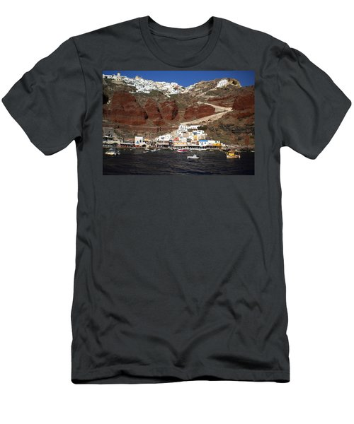 Santorini  Island  View To Oia Greece Men's T-Shirt (Athletic Fit)