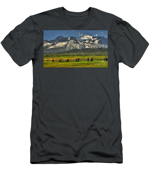 Sawtooth Mountains Men's T-Shirt (Slim Fit) by Sam Rosen