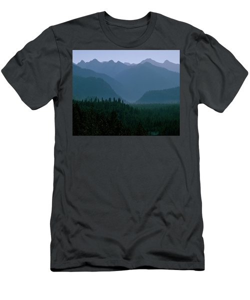 Sawtooth Mountains Silhouette Men's T-Shirt (Athletic Fit)