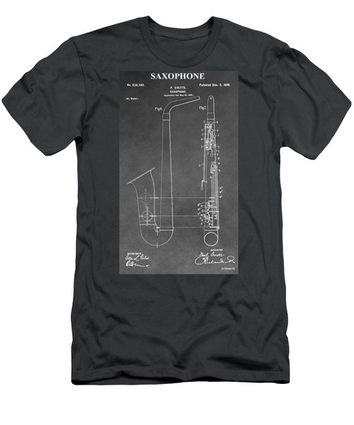 Saxophone Patent Men's T-Shirt (Athletic Fit)