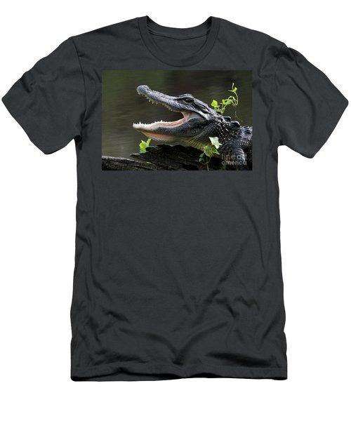 Say Aah - American Alligator Men's T-Shirt (Slim Fit) by Meg Rousher