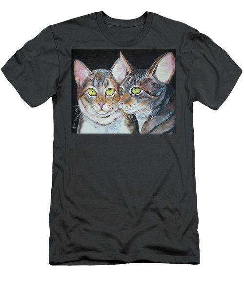 Scheming Cats Men's T-Shirt (Athletic Fit)