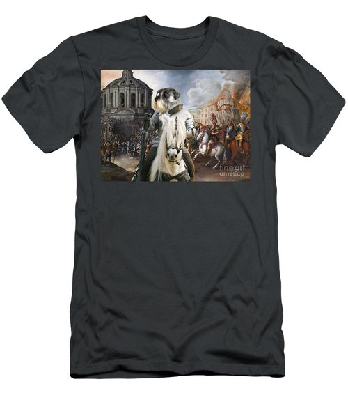 Schnauzer Art - A Siege The Sack Of Rome   Men's T-Shirt (Athletic Fit)