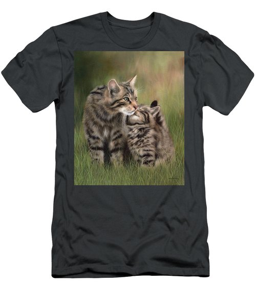Scottish Wildcats Painting - In Support Of The Scottish Wildcat Haven Project Men's T-Shirt (Athletic Fit)