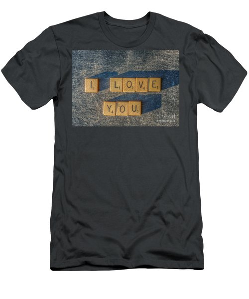Scrabble I Love You Men's T-Shirt (Athletic Fit)