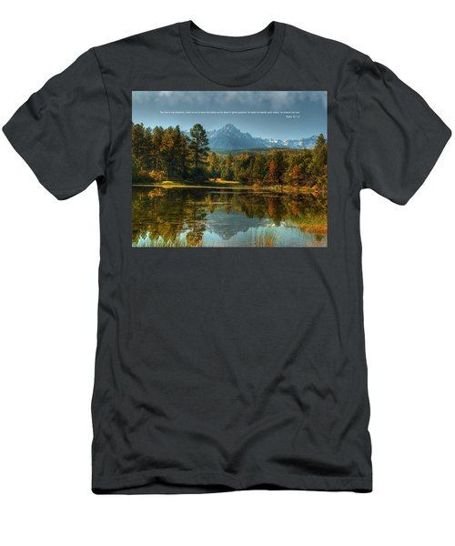 Scripture And Picture Psalm 23 Men's T-Shirt (Athletic Fit)