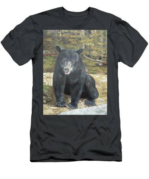 Men's T-Shirt (Slim Fit) featuring the painting Scruffy Again by Jan Dappen