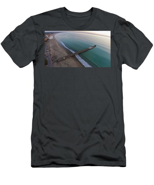 Seacliff State Beach From Above Men's T-Shirt (Athletic Fit)