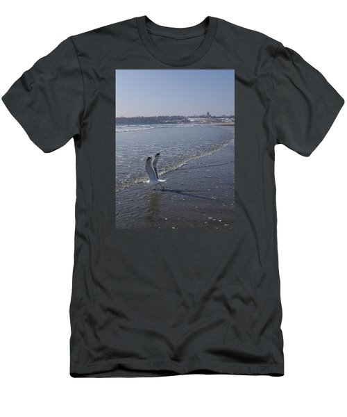 Men's T-Shirt (Slim Fit) featuring the photograph Seagull 1 by Robert Nickologianis