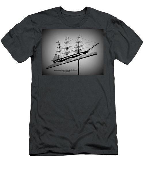 Seaman's Bethel Weathervane  Men's T-Shirt (Slim Fit) by Kathy Barney