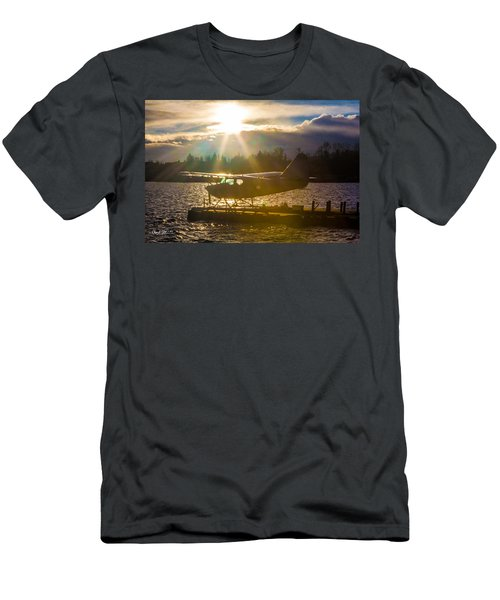 Seaplane Sunset Men's T-Shirt (Athletic Fit)