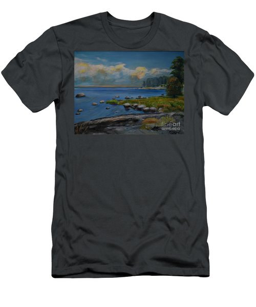 Seascape From Hamina 2 Men's T-Shirt (Athletic Fit)