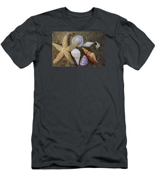 Seashells And Star Fish Men's T-Shirt (Slim Fit)