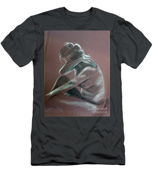 Seated Woman Side Light Men's T-Shirt (Athletic Fit)
