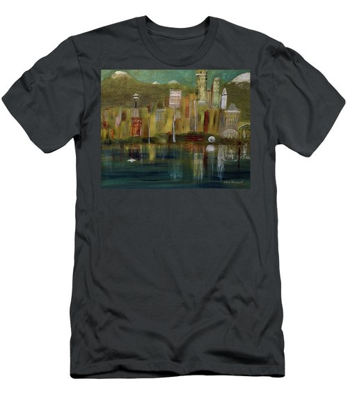 Seattle Cityscape Men's T-Shirt (Athletic Fit)