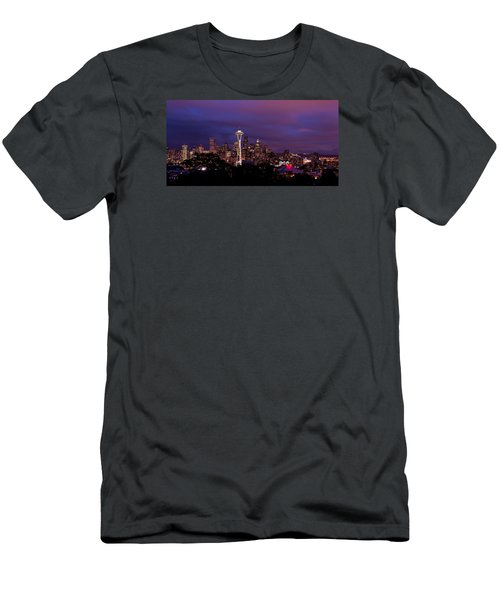 Seattle Night Men's T-Shirt (Athletic Fit)