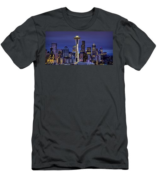 Seattle Skies Men's T-Shirt (Athletic Fit)