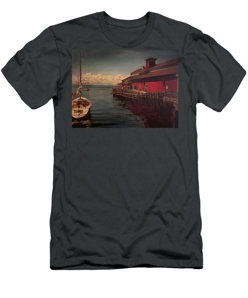 Seattle Waterfront Men's T-Shirt (Slim Fit)