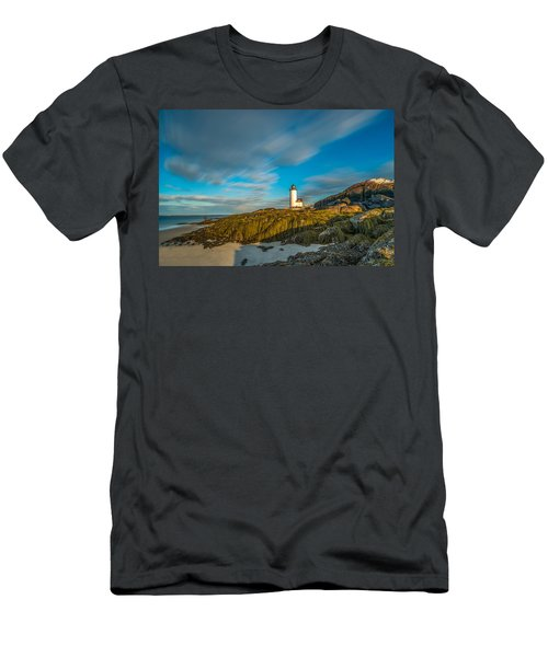 Seaweed Swagger And Time Traveling Clouds  At Annisquam Harbor L Men's T-Shirt (Athletic Fit)