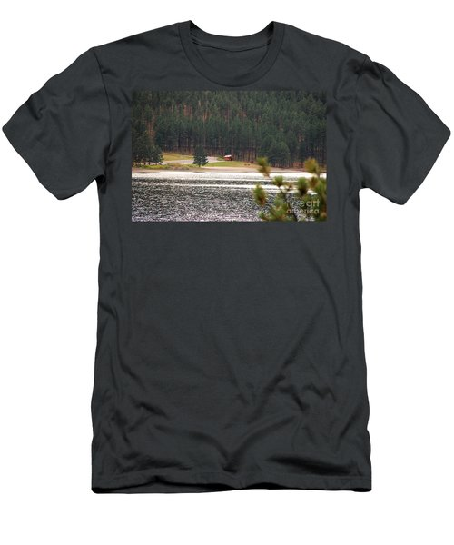 Secluded Cabin Men's T-Shirt (Slim Fit) by Mary Carol Story