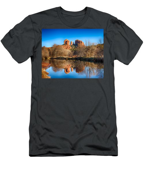 Sedona Winter Reflections Men's T-Shirt (Athletic Fit)