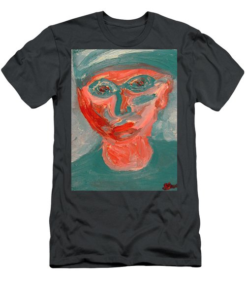 Self Portrait In Turquoise And Rose Men's T-Shirt (Athletic Fit)