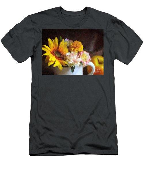 Men's T-Shirt (Slim Fit) featuring the digital art September Still Life by Lianne Schneider