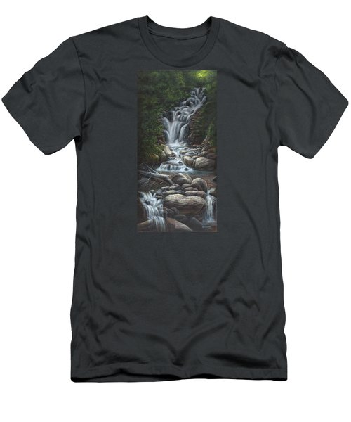 Men's T-Shirt (Slim Fit) featuring the painting Serenity by Kim Lockman
