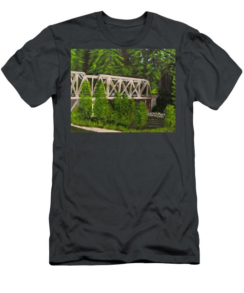 Sewalls Falls Bridge Men's T-Shirt (Athletic Fit)