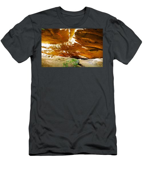 Shades Of Light Shadow And Texture On Cliff Wall Men's T-Shirt (Athletic Fit)