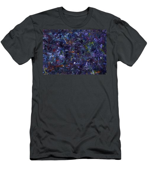 Men's T-Shirt (Slim Fit) featuring the painting Shadow Blue by James W Johnson