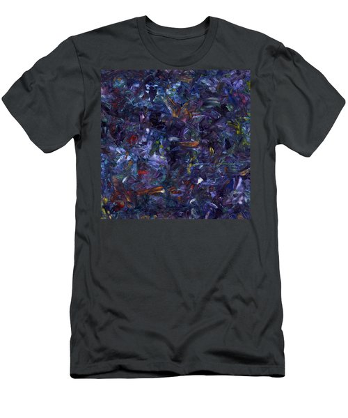 Men's T-Shirt (Slim Fit) featuring the painting Shadow Blue Square by James W Johnson