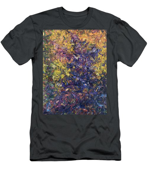 Men's T-Shirt (Slim Fit) featuring the painting Shadow Dance by James W Johnson