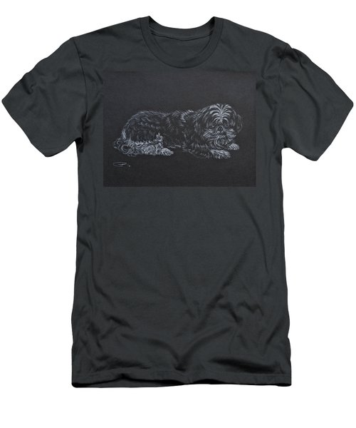 Men's T-Shirt (Slim Fit) featuring the drawing Shadow by Michele Myers