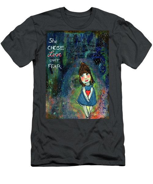 She Chose Love Over Fear Men's T-Shirt (Athletic Fit)
