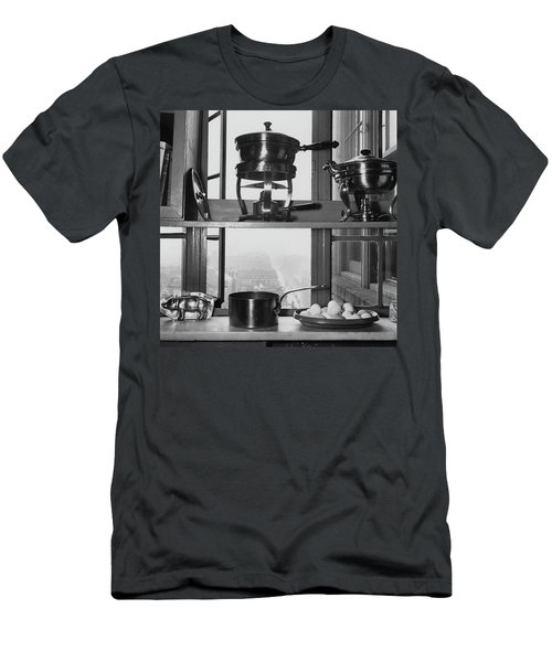 Shelves In Front Of A Window In Vivian Roome's Men's T-Shirt (Athletic Fit)