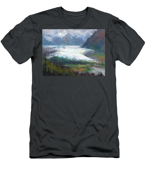 Shifting Light - Matanuska Glacier Men's T-Shirt (Athletic Fit)