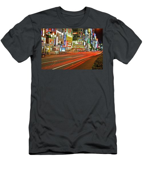 Shinjuku Neon Strikes Men's T-Shirt (Athletic Fit)