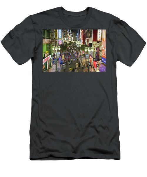 Shinjuku Street Scene At Night Men's T-Shirt (Athletic Fit)