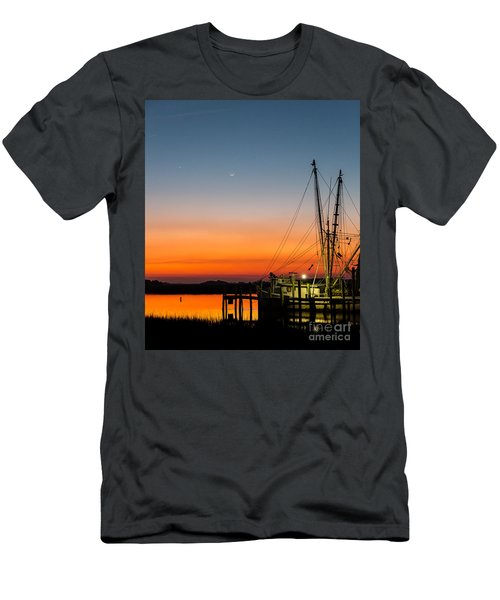 Shrimp Boat At Dusk Folly Beach Men's T-Shirt (Athletic Fit)