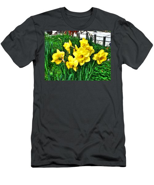 Shy Daffodils  Men's T-Shirt (Athletic Fit)