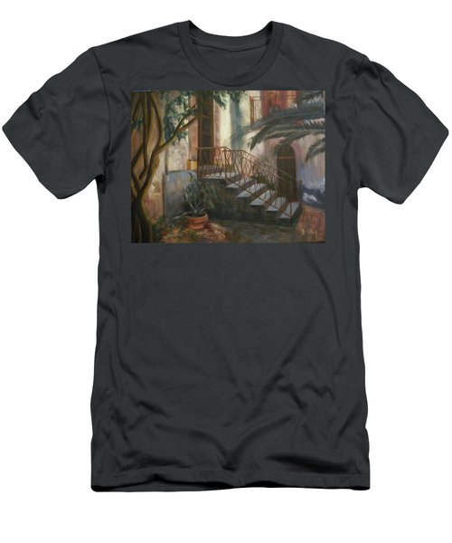 Men's T-Shirt (Slim Fit) featuring the painting Sicilian Nunnery by Donna Tuten