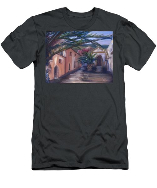 Men's T-Shirt (Slim Fit) featuring the painting Sicilian Nunnery II by Donna Tuten