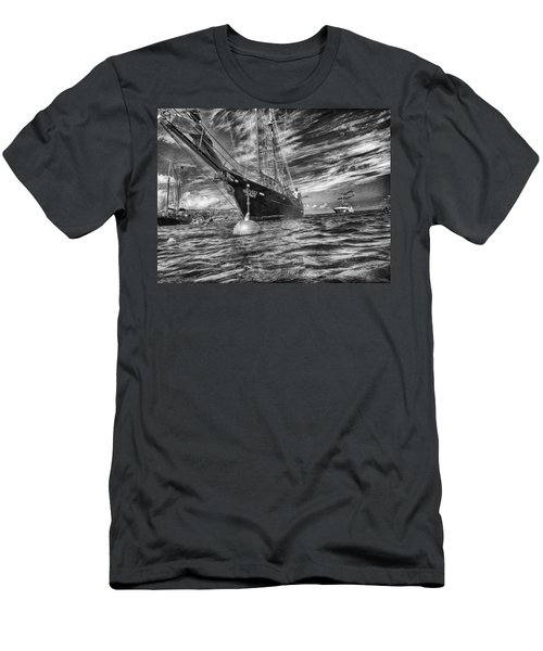 Men's T-Shirt (Athletic Fit) featuring the photograph Silent Lady by Howard Salmon